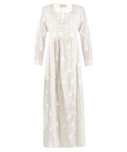 Muzungu Sisters | Embroidered Silk-Habotai Dress