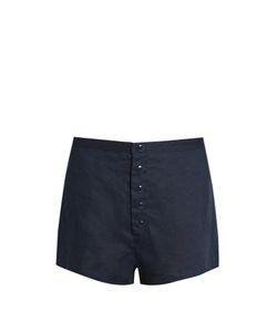 ALBUS LUMEN | Wide-Leg Linen Shorts