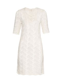 Vanessa Bruno Athé | Pointelle Crochet Half-Length Sleeve Dress