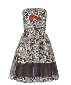 Sophie Theallet | Lindsay Floral-Print Strapless Dress