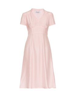 HVN | Morgan Gingham Short-Sleeved Dress