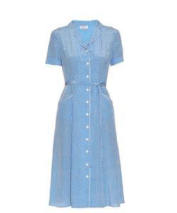 HVN | Maria Heart-Print Short-Sleeved Dress