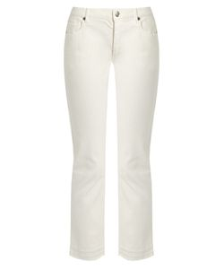 Nili Lotan | Mott Raw-Hem Stretch-Cotton Cropped Jeans
