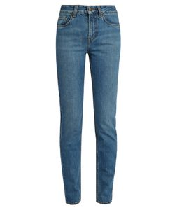 ROCKINS | High-Rise Straight-Leg Jeans