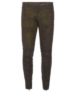 Longjourney   Flight Waxed-Cotton Jeans