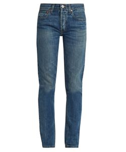 RE/DONE ORIGINALS | High-Rise Straight Skinny-Leg Jeans