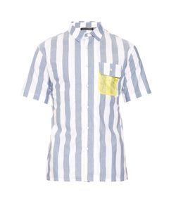 Longjourney   Short-Sleeved Cotton Shirt