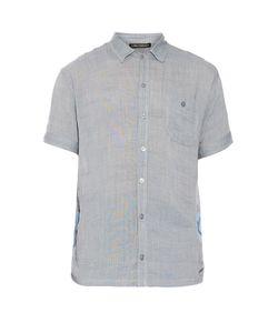 Longjourney   Camp Contrast-Panel Cotton Shirt