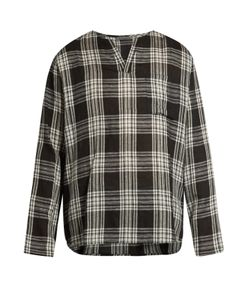 Denis Colomb | Checked Cashmere And Linen-Blend Top