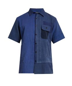 Longjourney   Aged Patchwork Short-Sleeved Shirt