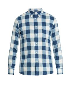 Blue Blue Japan | Checked Cotton-Flannel Shirt