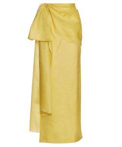 Rosie Assoulin | Hustle And Bustle Floral-Jacquard Silk-Blend Skirt