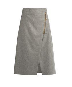 ACNE STUDIOS | Panna Zip-Up A-Line Skirt