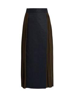 MAFALDA VON HESSEN | Bi-Colour Pleated Wrap Skirt
