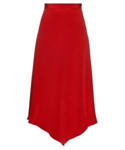 Juan Carlos Obando | Diamond-Hem Silk Midi Skirt