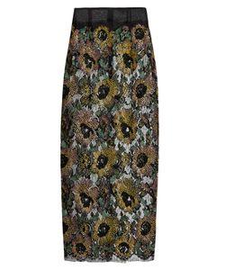 Sophie Theallet | Mari Sequin-Embellished Embroidered-Lace Skirt