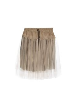 Vivienne Westwood Anglomania | Tulle-Overlay Gathered Skirt