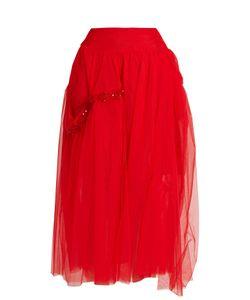 Simone Rocha | Bead-Embellished Tulle Skirt