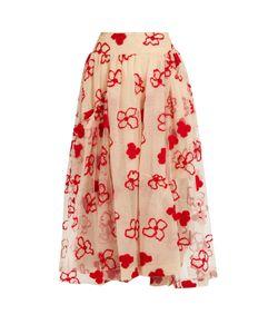 Simone Rocha | Spooky Flower-Embroide Midi Skirt