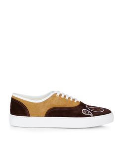 Orley | X Greats Embroidered Low-Top Suede Trainers