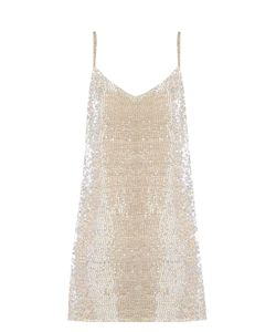 Ashish | Bead-Embellished Silk-Georgette Mini Dress