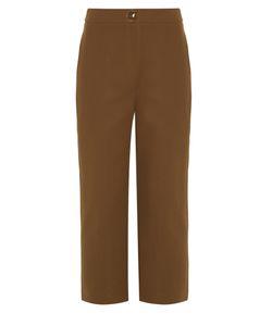 Fendi | Straight-Leg Cropped Trousers