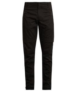 MARCELO BURLON   Damian Zipped-Cuff Cotton-Twill Trousers