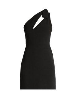 Saint Laurent   Sablee Wool One-Shoulder Slash Cut-Out Mini Dress