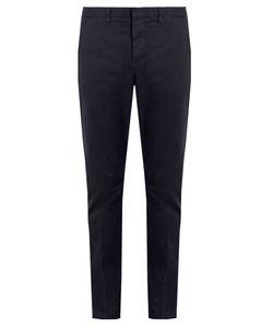 AMI   Slim-Leg Stretch-Cotton Chino Trousers