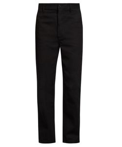 Burberry   Cotton-Twill Wide-Leg Trousers
