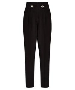 Proenza Schouler | High-Rise Slim-Leg Cady Trousers