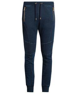 Balmain | Biker Slim-Leg Cotton Track Pants