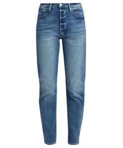 FRAME | Le Original Straight-Leg Stepped-Hem Jeans