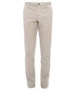 Incotex   Micro-Weave Slim-Leg Cotton-Blend Chino Trousers