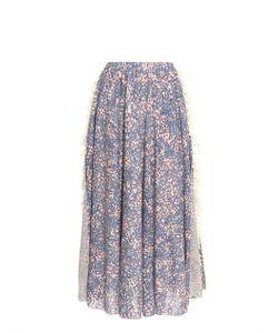 Julien David | Multi-Print Fringed Skirt