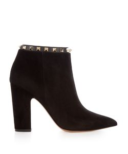 Valentino | Rockstud Suede Pointed Boots