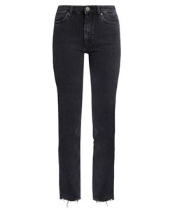 M.i.h Jeans | Daily Raw-Hem High-Rise Straight-Leg Jeans
