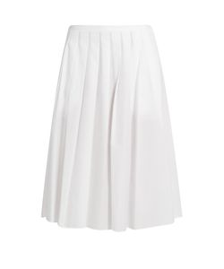 Vince | Pleated Cotton Skirt