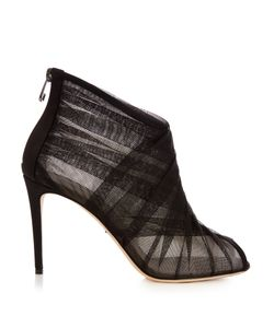 Dolce & Gabbana | Pleated-Tulle Open-Toe Ankle Boots