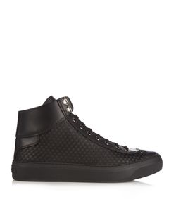 Jimmy Choo | Agyle High-Top Rubber-Stars Satin Trainers
