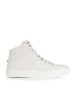 Jimmy Choo | Belgravia Debossed-Leather High-Top Trainers