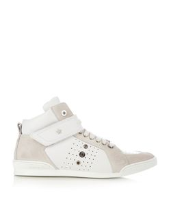 Jimmy Choo | Lewis High-Top Leather And Suede Trainers