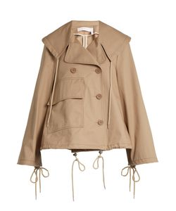 See by Chloé | Double-Breasted Cropped Cotton Trench Coat