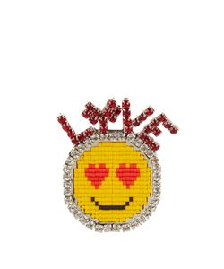 Shourouk | Emojibling Love Smiley Face Brooch