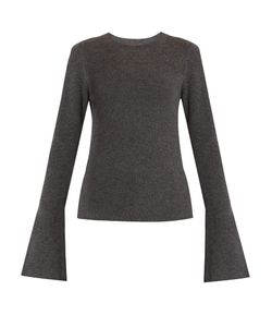 Le Kasha | Boston Fluted-Sleeves Cashmere Sweater