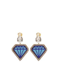 Shourouk | Emojibling Diamond-Motif Earrings