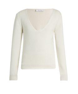 Ryan Roche | Deep V-Neck Cashmere Sweater