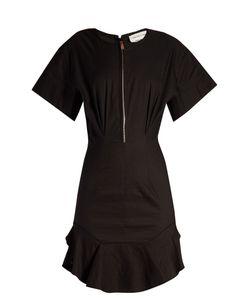 Isabel Marant Etoile | Neit Zip-Front Ruffle-Hem Dress