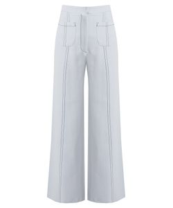 Emilia Wickstead | Sally Wide-Leg Cropped Crepe Trousers
