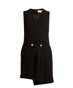 Osman | Florence V-Neck Wool-Crepe Dress